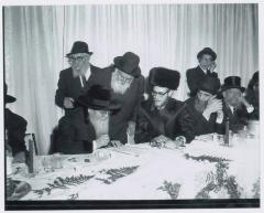 Rabbi Eliezer Silver at Chosson's Tisch at Unidentified Wedding
