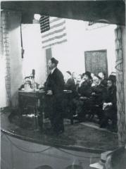 Rabbi Eliezer Silver Speaking at Unidentified Zeire Agudath Israel Event
