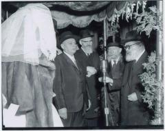 Rabbi Eliezer Silver and Rabbi Yaakov Kamenetzky at Unidentified Wedding