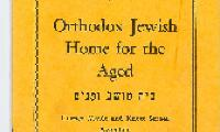 Constitution of the Orthodox Jewish Home for the Aged Cover