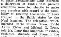 Attempt to Rescue Baltic Jews 7/3/1941 - Chicago Sentinel