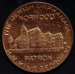 Norwood Jewish Orphanage 1937 Coronation Medal of George VI & Elizabeth