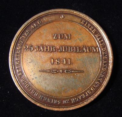 Medal Commemorating the 25th Anniversary of Israel Loan Institute of Hamburg, Front/Obverse