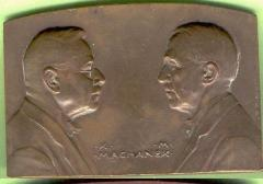 Medal in Honor of Jewish Bank in Czechoslovakia - 1927