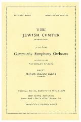 The Jewish Center of Cincinnati, Community Symphony Orchestra - February 10, 1944