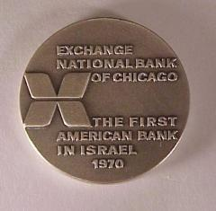 EXCHANGE NATIONAL BANK OF CHICAGO MEDAL