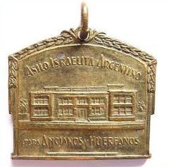 Jewish Argentinian Orphans & Elderly Home 25th Anniversary Medallion - 1940