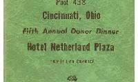 Fifth Annal Donor Dinner Book Cover