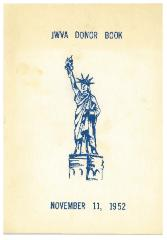 Jewish War Veterans Ladies' Auxiliary, Post 438 - Cincinnati, Ohio, Donor Luncheon Program Book - 1952