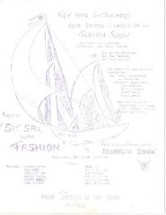 New Hope Congregation Sisterhood Flyer - Donor Luncheon and Fashion Show - 1969