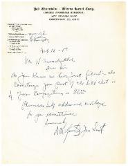 Letter Regarding Cemetery Bill on Yad Charutzim / Tiferth Israel Letterhead