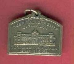 Argentinian Medallion Commemorating the Laying of the Cornerstone of the Hospital Israelita in Buenos Aires - 1924