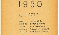 Officers for the 1949-1950 Academic Year