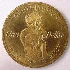 Jewish Sanitarium for Incurables 1926 $1 Contribution Token