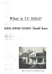 """What is UC Hillel?"" Information Booklet"