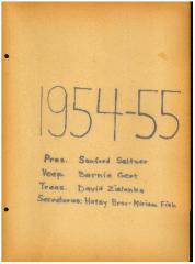 University of Cincinnati Hillel Foundation Archive Documents 1954-1955