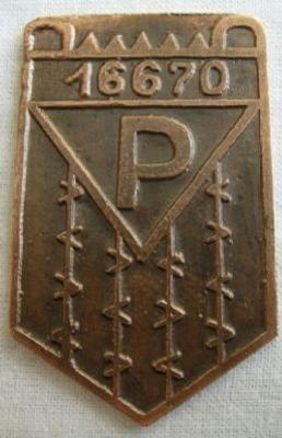 Maximilian Kolbe / Auschwitz Commemorative Medal with Prisoner Number