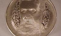 Theodore Herzl Medal by the Franklin Mint - part of the Medallic History of the Jewish People Series Front/Obverse