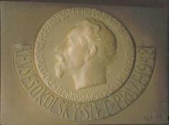 Sokol Gypsum Commemorative Plaque for 80 Sokol Members killed in Mauthausen in 1944