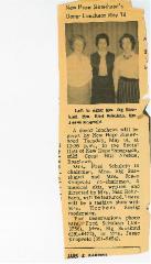 New Hope Congregation Sisterhood Newspaper Clippings