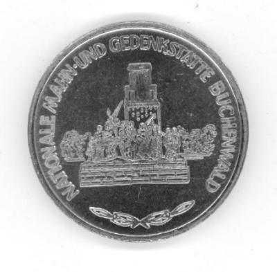 Buchenwald German 1984 Commemorative Coin Front/Obverse