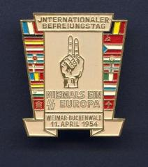 Buchenwald Memorial Pin #3 Issued at 1954 Buchenwald Survivors Meeting