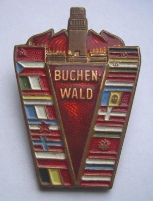 Buchenwald Memorial Pin #5 Issued in 1959 (?) at Buchenwald Survivors Meeting