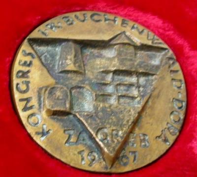 Medal Issued for the Kongress FR Buchenwald Dora held in Zagreb in 1967