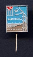 Auschwitz Commemorative Pin from 1981