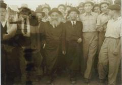 Rabbi Silver Walking on His Trip in Europe with Rabbi Reuven Katz