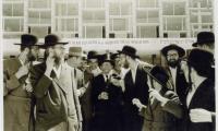 Rabbi Silver outside the 5th Knessia Gedola Agudath Israel World Organization in Jerusalem 1964