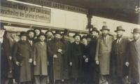 Rabbi Silver at the Knessia Gedolah of Agudath Israel in Marienbad, 1937