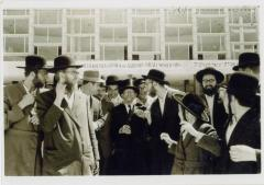 Rabbi Silver outside the 5th Knessia Gedola Agudath Israel World Organization in Jerusalem 1964