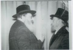 Rabbi Yitzchak Hutner (RY Chaim Berlin) speaking with Rabbi Silver
