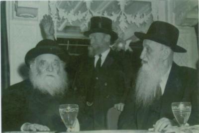 Rabbi Silver w Reb Avraham Kalmanowitz (RY Mir) and Rav Aharon Kotler (RY Lakewood)