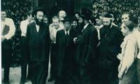 Rabbi Silver with Yeshiva Boys likely in Camp Agudah 1957