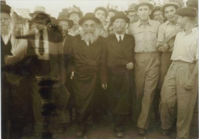 Rabbi Silver Walking on His Trip in Europe