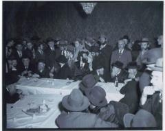 Rabbi Eliezer Silver at the Wedding of Rabbi Eli Chaim Carlebach in 1949