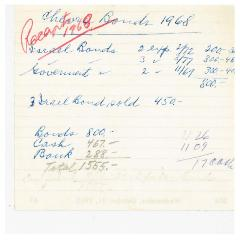 New Hope Congregation Burial Society Receipt - Chevra Bonds - 1968