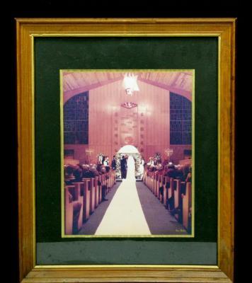 Photograph of Unidentified Wedding at Golf Manor Synagogue, Cincinnati, Ohio