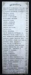 Original Marble Bequest Board Listing Donors who Contributed to the Founding of Hebrew Union College (1875) in Cincinnati, Ohio