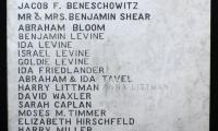 Cincinnati Synagogue Memorial Boards from Unidentified Synagogue