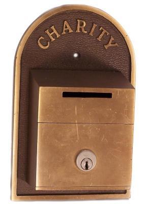 Brass Charity Box