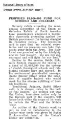 Article Regarding  1930 Semi-Annual Agudas HaRabonim (The Union of Orthodox Rabbis of the United States and Canada) Convention