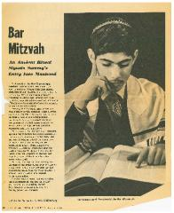 "Cincinnati Enquirer, ""Bar Mitzvah,"" article from 6/13/1965"