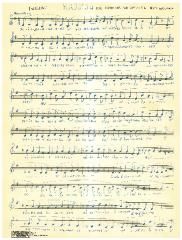 "Sheet Music in the German Minhag: ""(Finishing) Kaddish for Schabbos Nachamuh Till Rosh Hashonoh"""