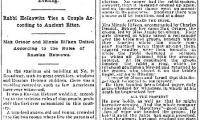 """Cincinnati Enquirer, Article Entitled """"Weirdly Wedded,"""" from 7/15/1889 Regarding a Russian Jewish Wedding in Cincinnati"""