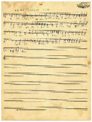 "Sheet Music in the German Minhag: ""HaJom Haras Olom"""