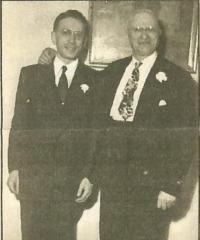 Photograph of Ernst Kahn and his Father, Moritz Kahn at the Wedding of Ernst Kahn