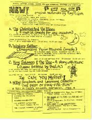 Bureau of Jewish Education - Sing-Along Order Sheet - 1984